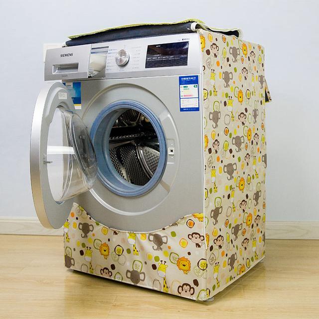 洗衣机放阳台,经过暴晒面板会老化!它也需要防晒衣,干净更健康