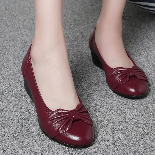 专为妈妈设计中老年真皮单鞋,  柔软舒适轻松不累脚
