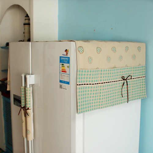 时尚的冰箱防尘罩,不但防尘防油烟,还能做杂物收纳袋
