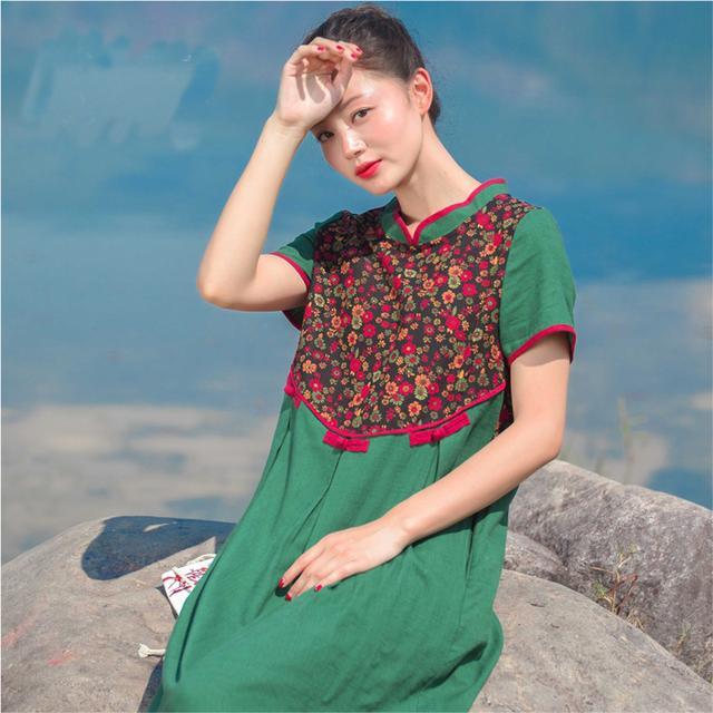 美不胜收,让你怎么穿都好看,民族风棉麻连衣裙,让你幻化成风景