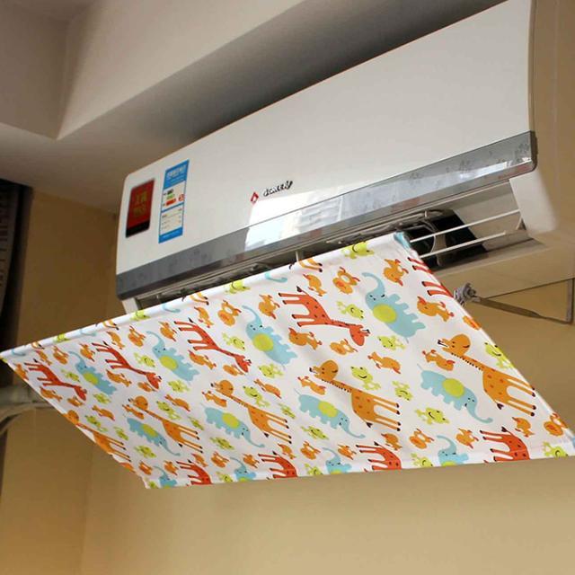 空调直吹易得空调病,聪明人都在装挡风板,健康凉爽兼得