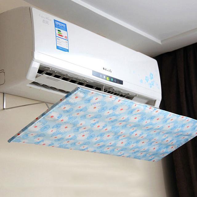 别对着空调吹了,别人家都用空调挡风板,省电又不会着凉