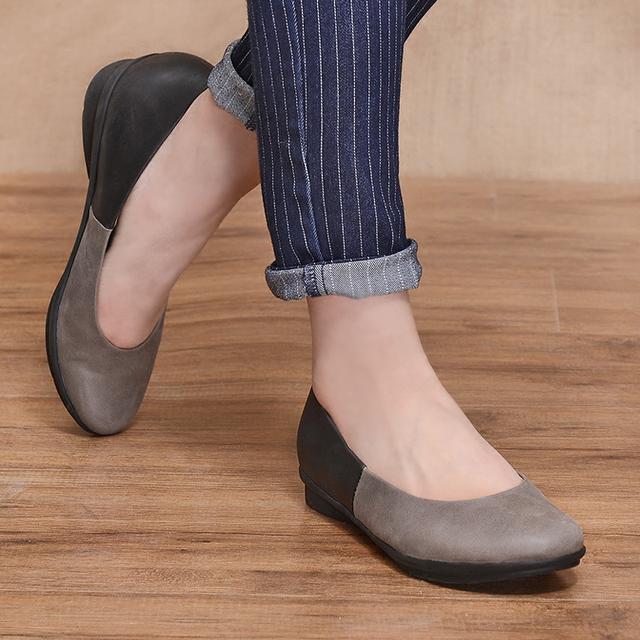 真皮手工单鞋追求品质的苛求,享受大牌质感,原始风尽情展现