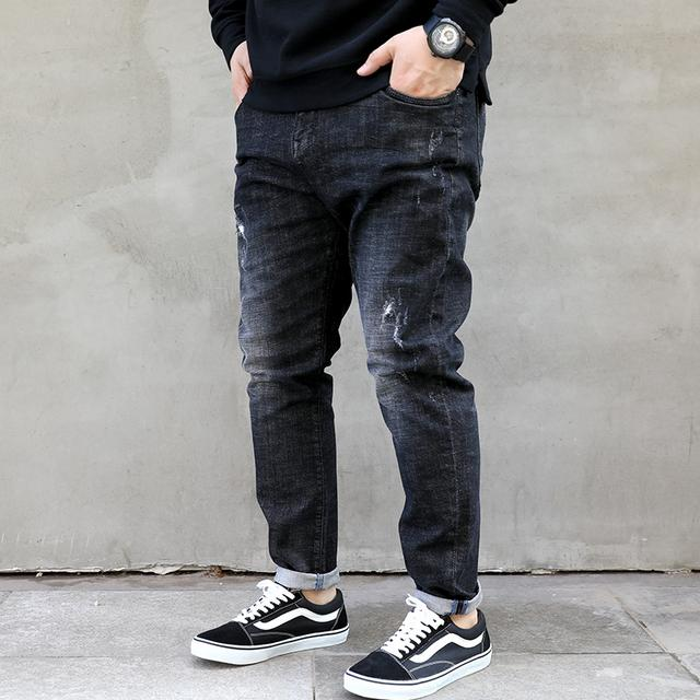 大码牛仔裤,男生穿起来一样帅帅的