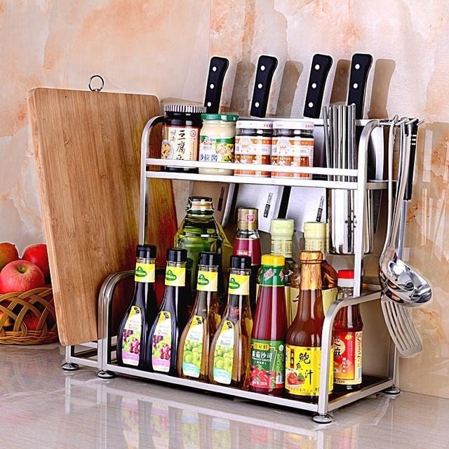 家佰利304不锈钢厨房置物架