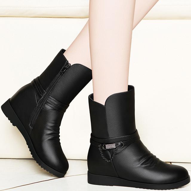马丁靴女靴子冬季2017新款韩版加绒短靴