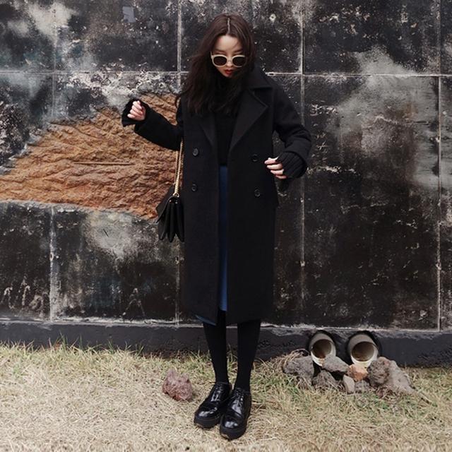 只需一件呢大衣外套,潮女搭配师就能帮你塑造出淑女气质