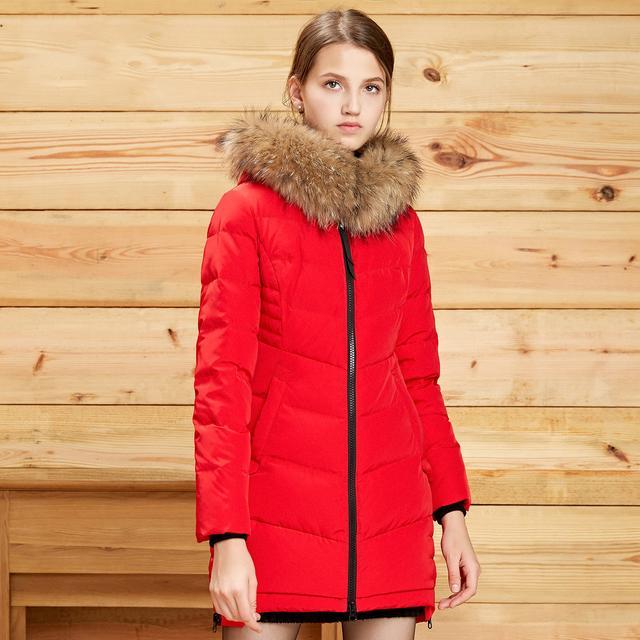 波登羽绒服冬季保暖中长款外套 BSD0优惠券
