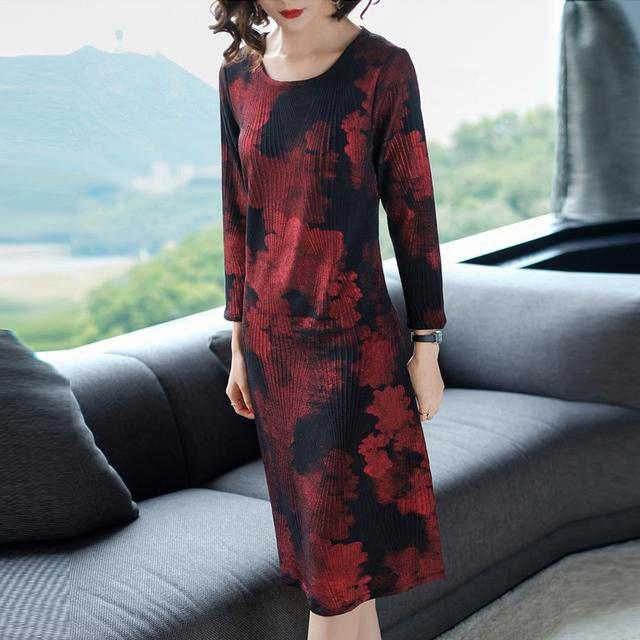 显瘦印花连衣裙 AFM215优惠券