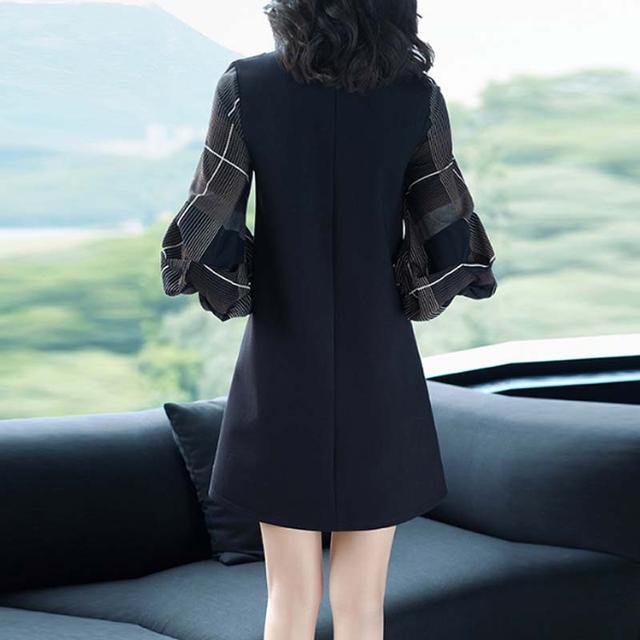 长袖拼接宽松连衣裙大码短裙打底A字裙优惠券