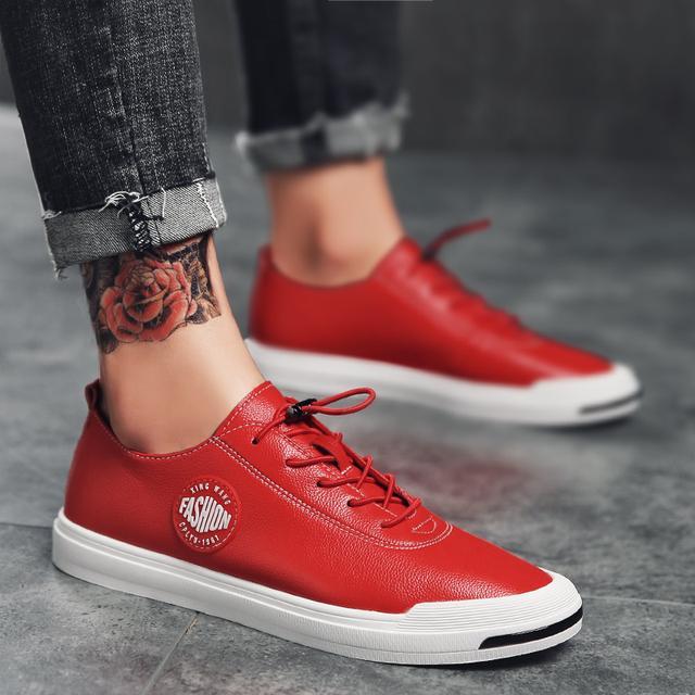 春季时尚低帮板鞋男士休闲鞋小白鞋男潮鞋优惠券
