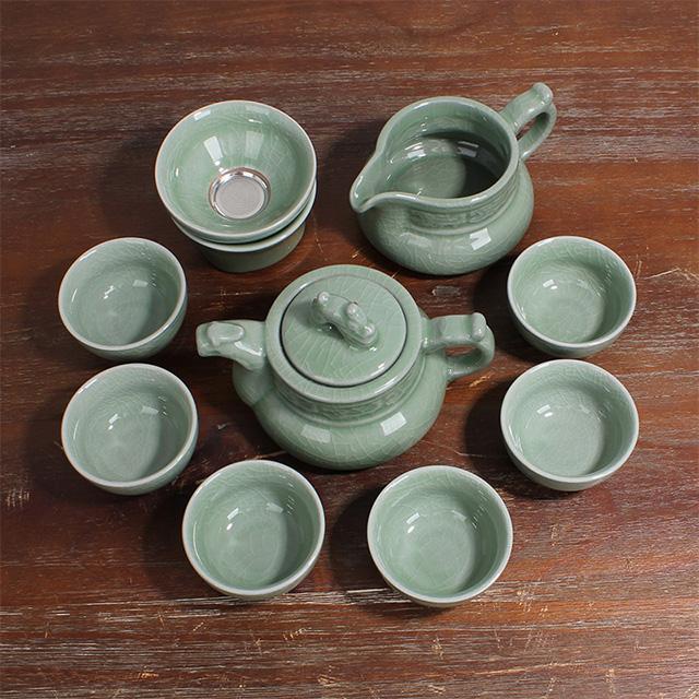 哥窑-尚香茶壶9头精品茶具优惠券