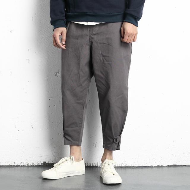 原创日系男装新款个性设计美式街头百搭休闲青年复古哈伦裤垮裤男优惠券