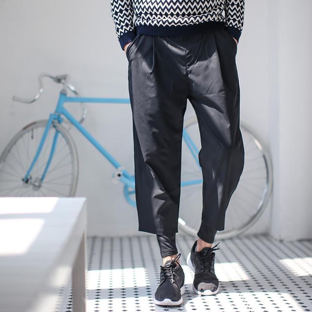 NOT HOMME潮牌假两件打底裤男款款式休闲裤锥形裤设计师风原宿款优惠券
