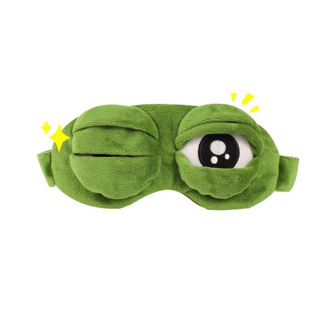 包邮创意悲伤青蛙蛙眼罩搞怪卡通眼罩动漫个性搞笑眼罩睡眠眼罩优惠券
