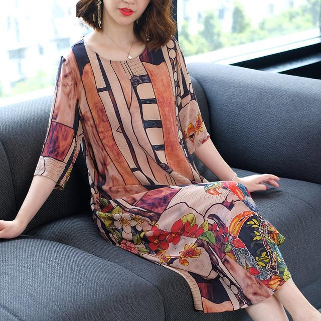 品牌反季妈妈连衣裙E2468876优惠券