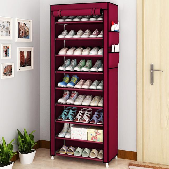 十层大容量防尘鞋柜 无纺布多功能简易鞋架优惠券