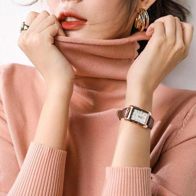 2019新款堆堆高领套头内搭打底针织衫宽松长袖秋冬季纯色毛衣女优惠券