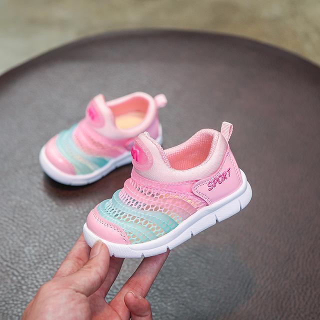 春秋女宝宝鞋婴儿学步鞋软底0-1-3一岁2男毛毛虫童鞋透气网鞋夏季优惠券