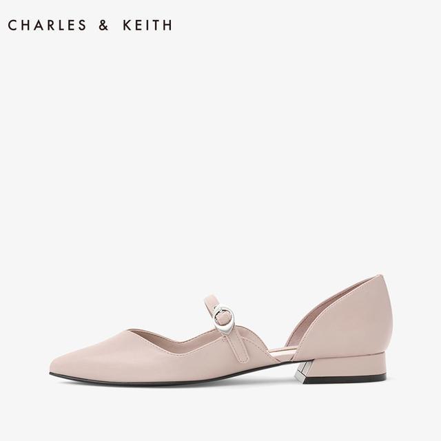 CHARLES&KEITH女士单鞋CK1-70380682纯色尖头玛丽珍带平底鞋优惠券