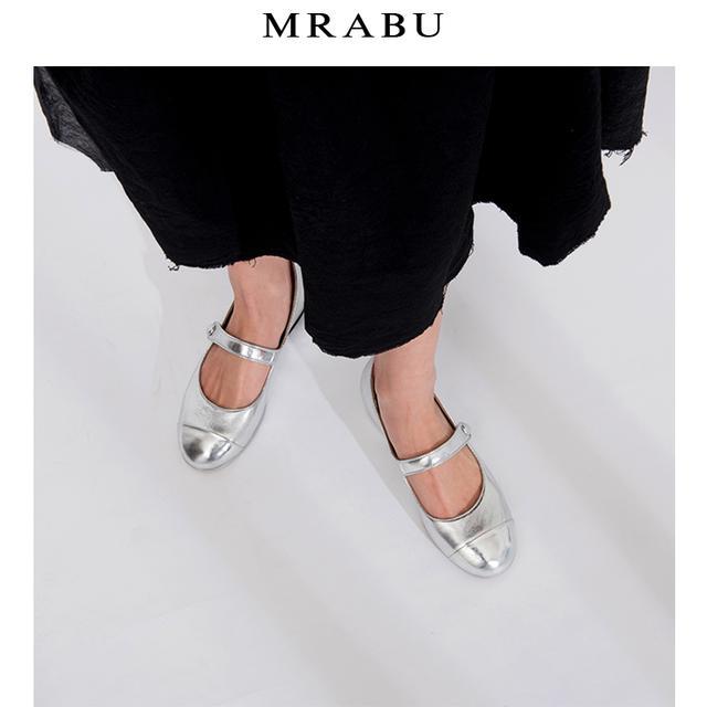 玛丽珍鞋女复古银色小皮鞋一字扣小香风赫本鞋新款单鞋平底粗跟优惠券
