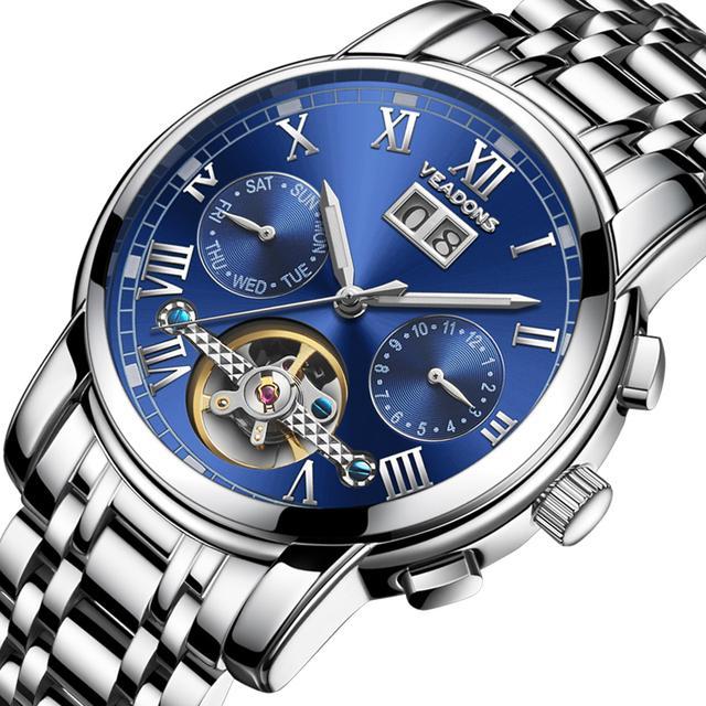 专柜手表 全自动多功能机械 夜光男表 3053优惠券