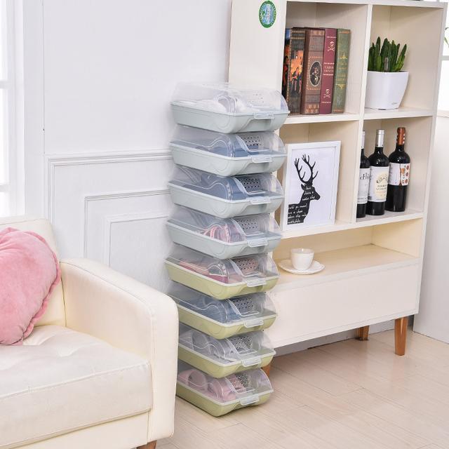 大号加厚鞋盒透明防潮简易男女鞋子整理收纳盒塑料鞋架鞋柜优惠券