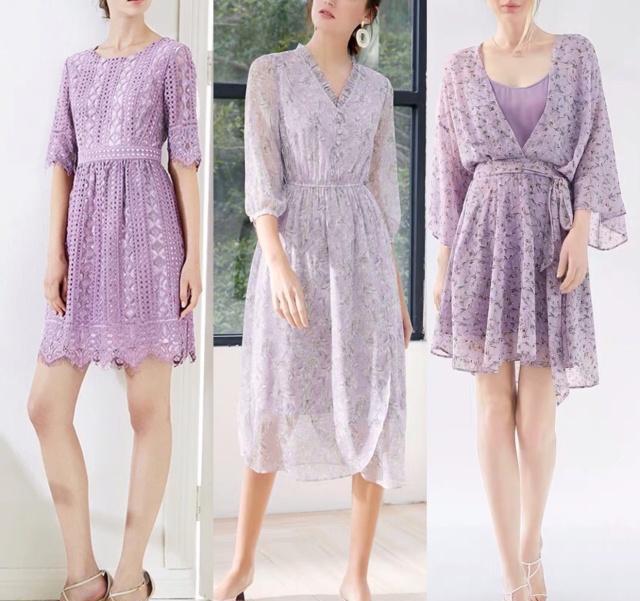 梦幻的淡紫色裙子,宛如紫藤花一般在春日里绽放!