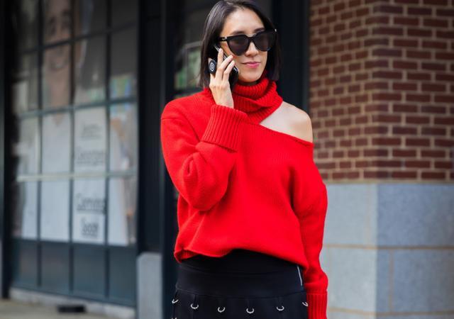 女人再会打扮,也要把气温当回事,秋冬穿针织衫,文艺保暖提气质