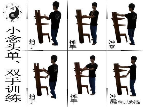 12式木人桩模块化技术定型训练1:小念头,咏春拳以拳破势训练