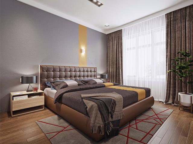 卧室布置的超实用,睡觉办公两不误
