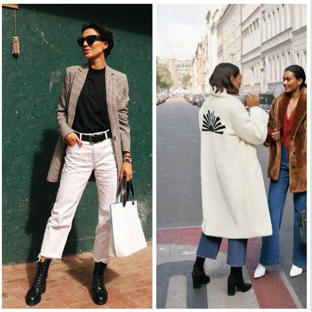穿什么样的裤子更时髦?时装周的街拍告诉你:别让腰闲着