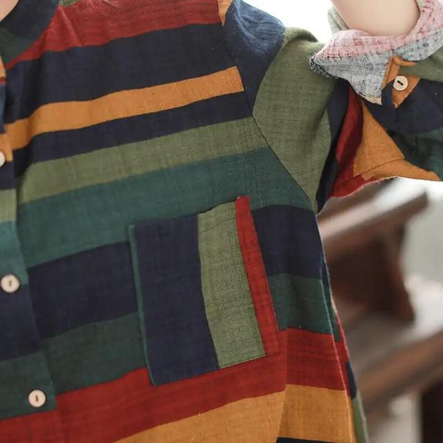 别小瞧几十块棉麻衫,比真丝还舒适透气,配棉麻裤,现在穿刚刚好