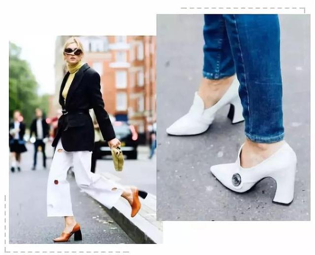 """甩开你的平底鞋,今年流行""""带跟鞋"""",百搭时髦,优雅忒文艺"""