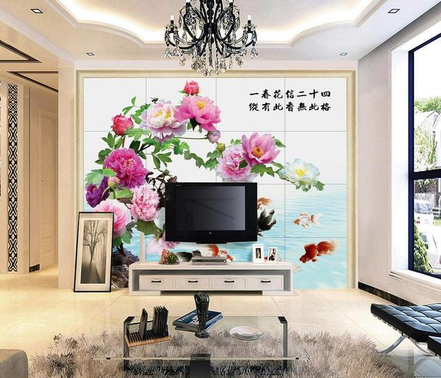 电视背景墙怎么装修好看?花样壁纸装饰最美客厅