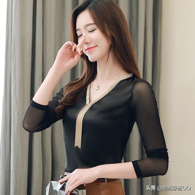 女人经济允许,咬咬牙买件新式小衫,梨形身材穿特显瘦
