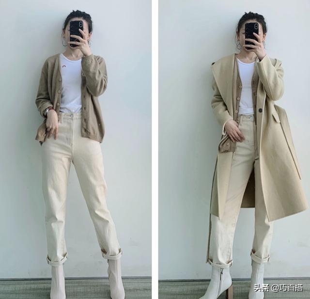 冬天不知道怎么穿?白色牛仔裤的16种搭配参考,美得精致又时髦