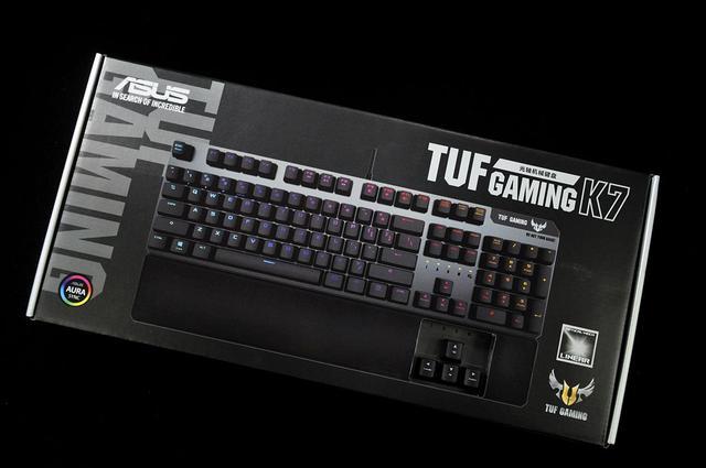 华硕TUFGAMINGK7光轴机械键盘评测,远比想象中要好