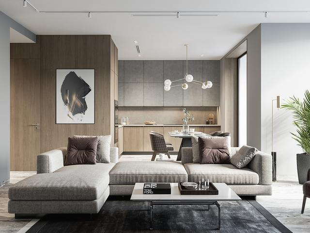 80平方米的小公寓,装修设计逼格超高,室内设计优雅时尚